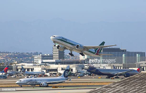 Planes at Los Angeles International Airport on July 10 2016 in Los Angeles California