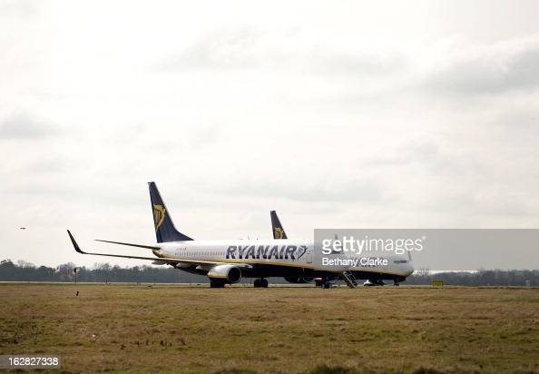 Planes sit on the runway at Stansted Airport on February 28 2013 in Bishop's Stortford England The deal between Heathrow Airport Holdings formerly...