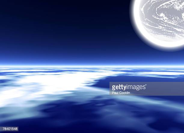 Planet atmosphere from space