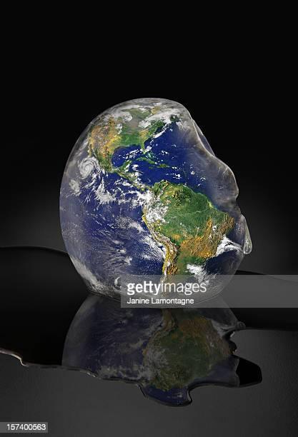 Planet Earth Melting