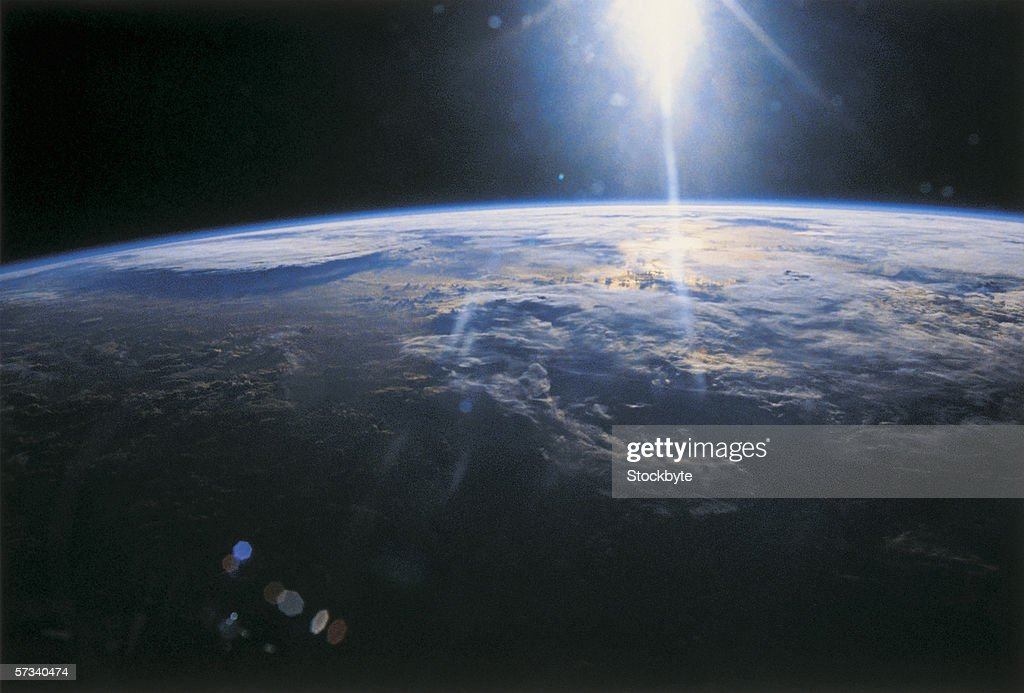 planet earth viewed from space : Stock Photo
