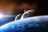 Planet landscape artwork made with photoshop cs4