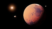 artist's interpretation of the red planet