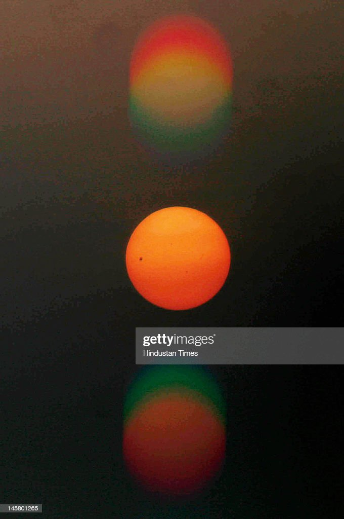 Planet Venus is pictured during the transit across the sun on June 6, 2012 in Kolkata, India. This is last Venus transit of the century as next such transit will happen after 105.5 years in 2117.