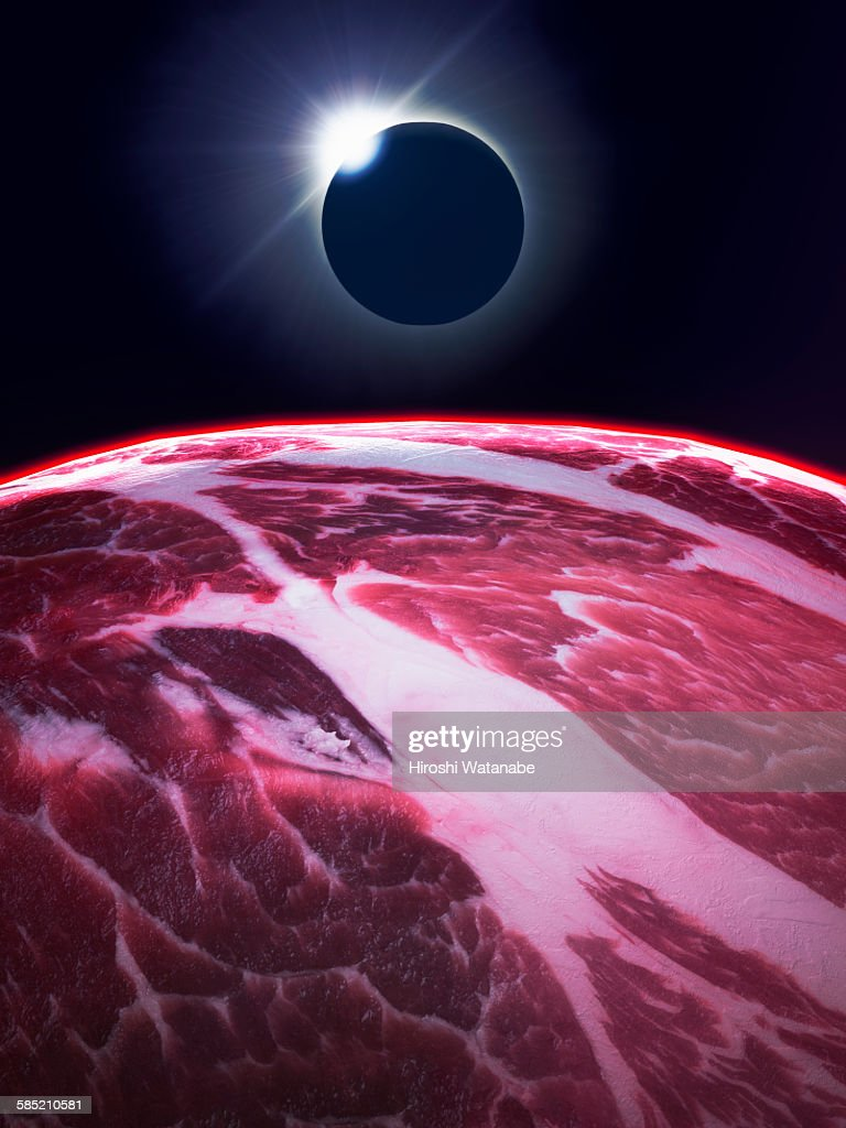 Planets that made of meat with eclipse.