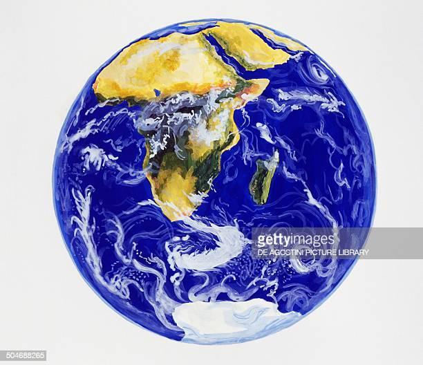 Planisphere Africa drawing