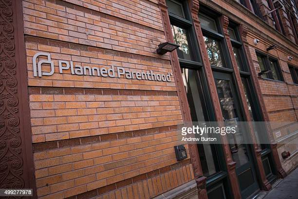 Planned Parenthood office is seen on November 30 2015 in New York City A gunman killed three people November 27 including a police officer at a...