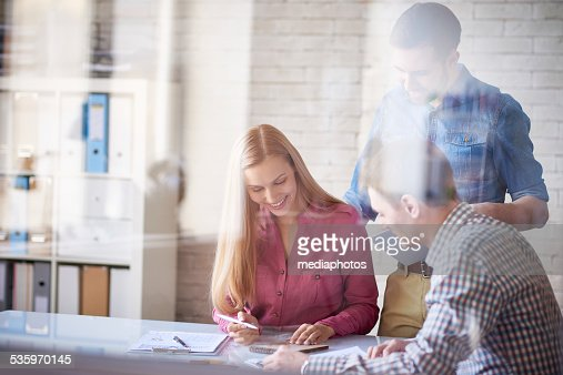 Planning business project : Stock Photo