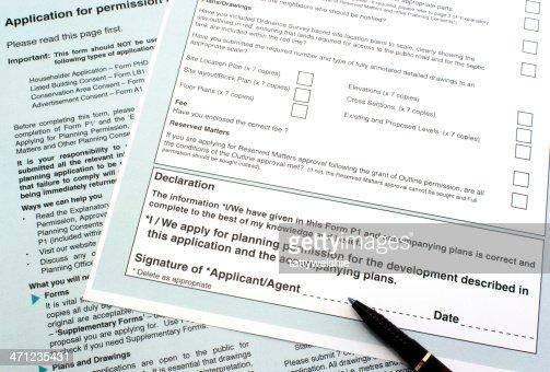 Planning permission form