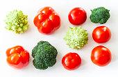 Plant based raw food seasonal vegetables background, vegan food cooking ingredients, top view.
