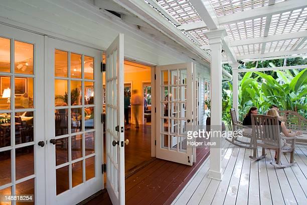 Plantation House veranda, Hotel Hana-Maui.