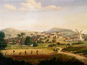 Plantation in Saint Croix the West Indies ca 1850 painting by Fritz Melbye