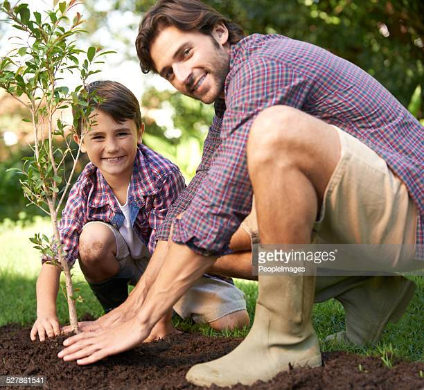 Planting a tree with Dad