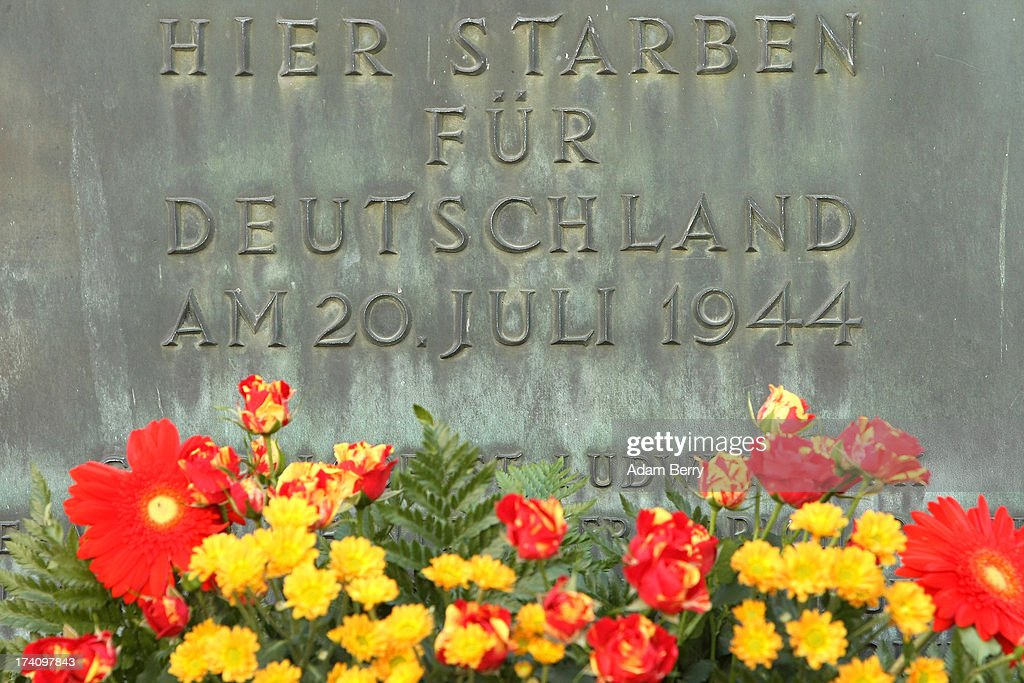 A plaque dedicated to the memory of the planners of the 1944 assassination attempt on Adolf Hitler hangs on the 69th anniversary of the failed mission on July 20, 2013 in Berlin, Germany. The leaders of the conspiracy, including Claus Schenk Graf von Stauffenberg, were shot in the courtyard, and the site has been used as a memorial to German resistance during World War II.