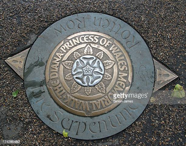 A plaque marks the Diana Princess of Wales Memorial Walk at Hyde Park on July 23 2013 in London England Catherine Duchess of Cambridge yesterday gave...