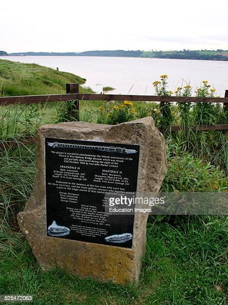 Plaque to commemorate the Severn and Wye Railway Bridge disaster Purton Berkeley Gloucestershire UK