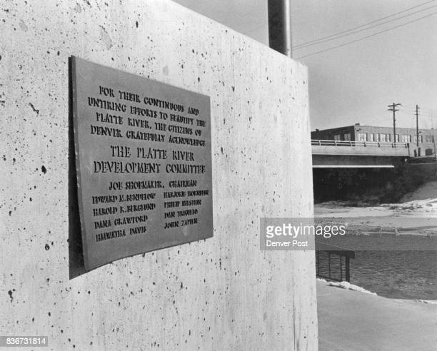 Plaque With Poem Stolen A bronze plaque inscribed with the poem 'To Two Rivers' written by Colorado poet laureate Thomas Hornsby Ferril recently was...