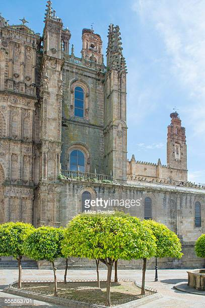 Plasencia Cathedral with orange trees