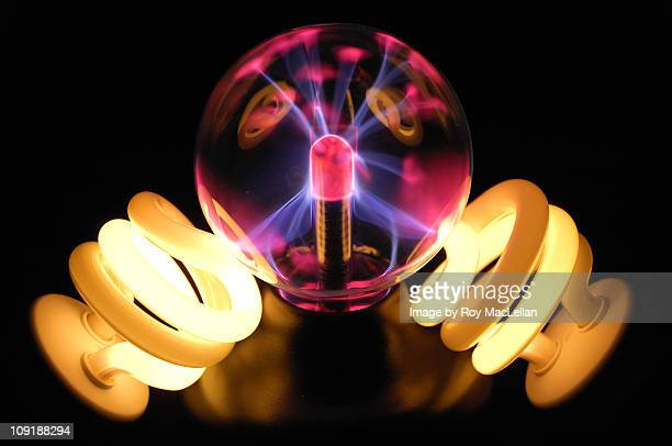 Plasma Ball and Fluorescent Lights