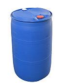 Plastic Barrel isolated on white
