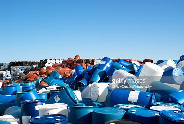 Plastic Barrels to the Horizon
