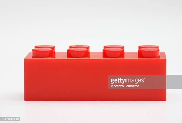 Plastic block on white background