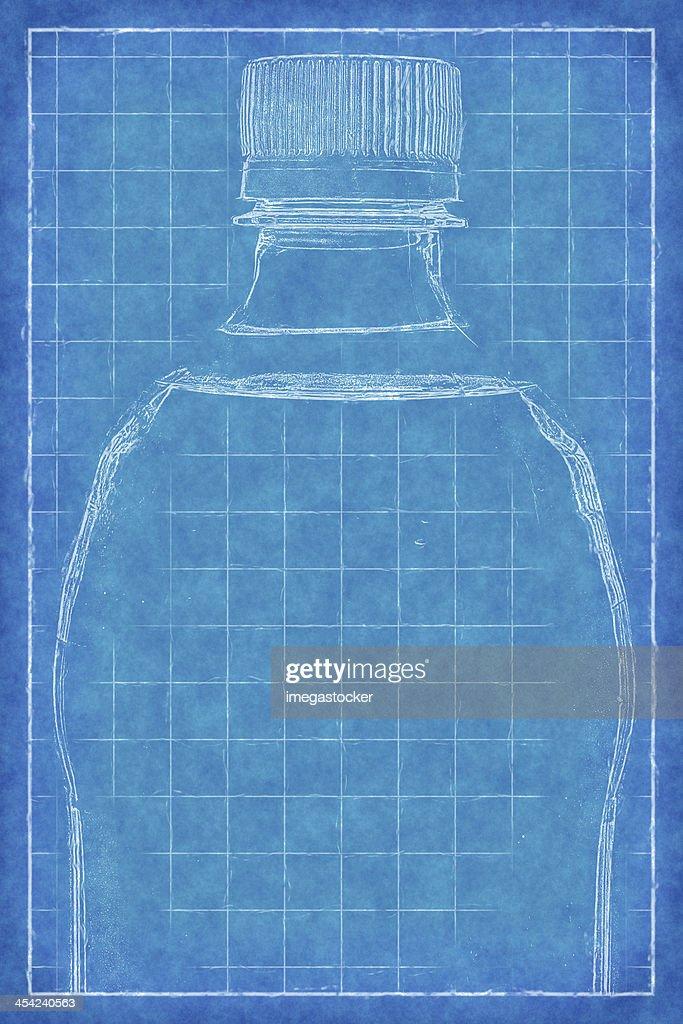 Plastic bottle - Blue Print : Stock Photo