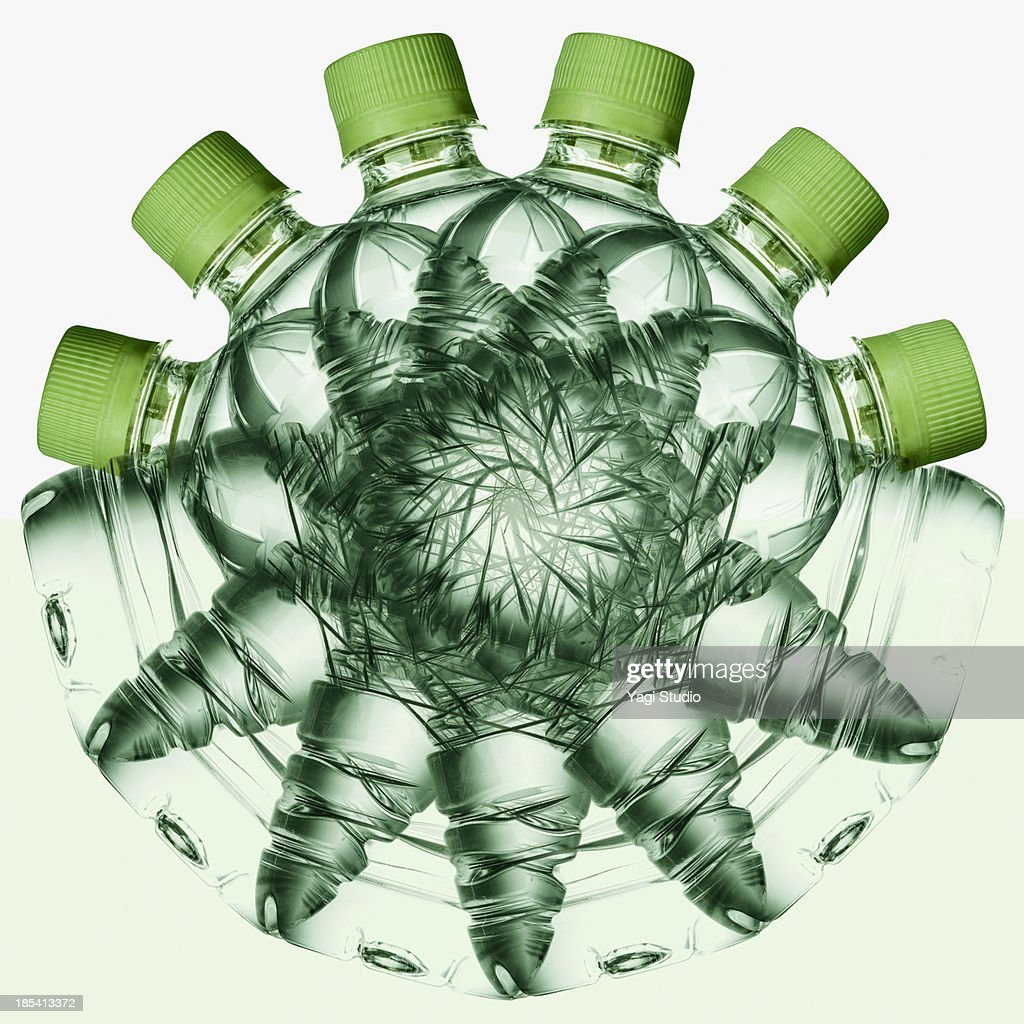 Plastic bottles of mineral water : Stock Photo