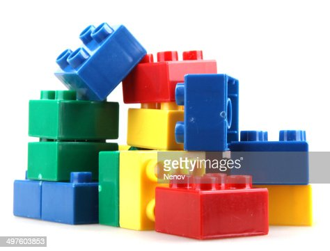 Plastic block stock photos and pictures getty images for Plastic building blocks home construction