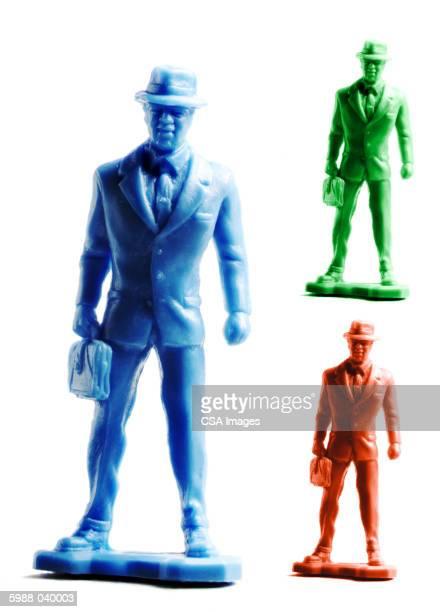 Plastic Businessman Figurines