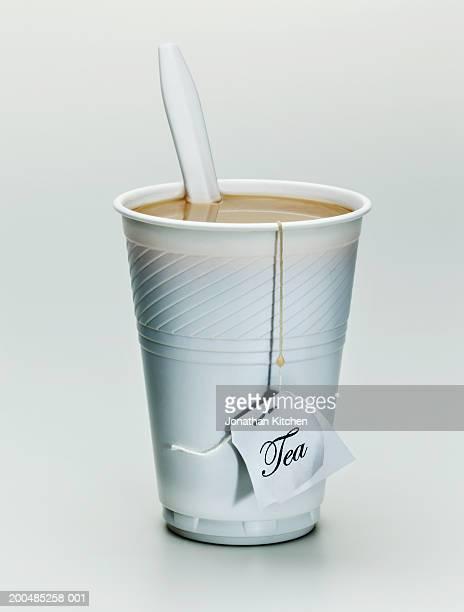 Plastic cup of tea