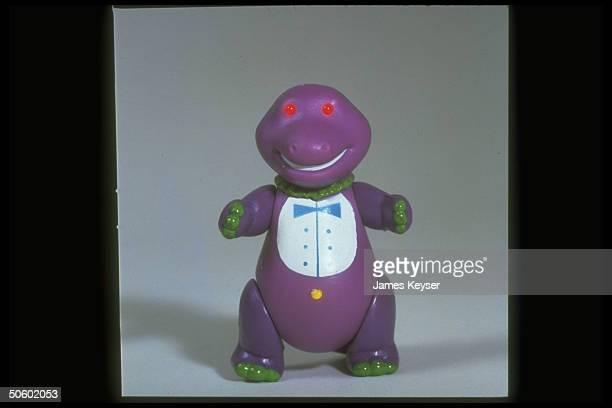 Plastic figure of Barney the dinosaur fr PBS's children's program Barney Friends