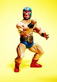 Plastic Figurine of a Professional Wrestler