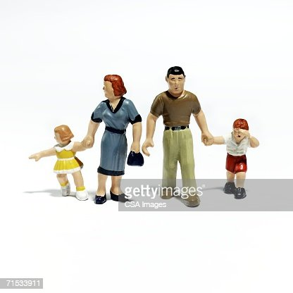 Plastic Figurines of a Family