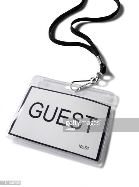 Plastic Guest Badge