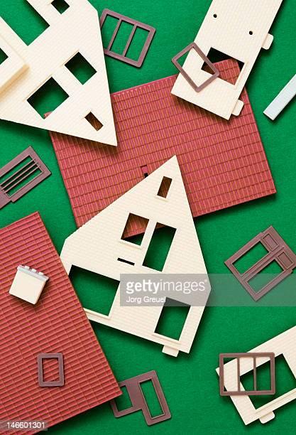 Plastic house model building kit