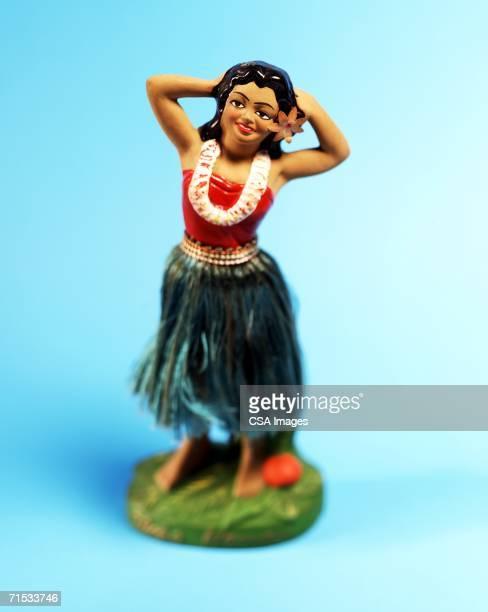 Plastic Hula Dancer Figurine