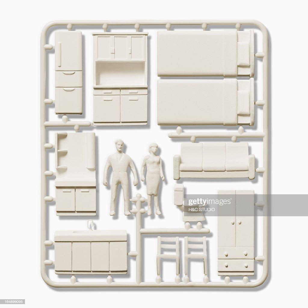 Plastic model of  interior items