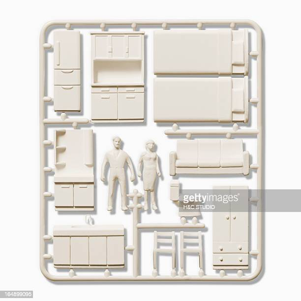Plastic model of  interior items