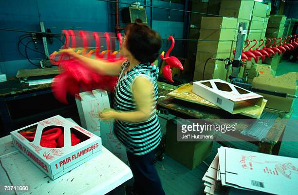 Plastic molds as the originial plastic pink flamingo is manufactured by Union Products on March 18 2004 in Leominster Massachusetts The original...