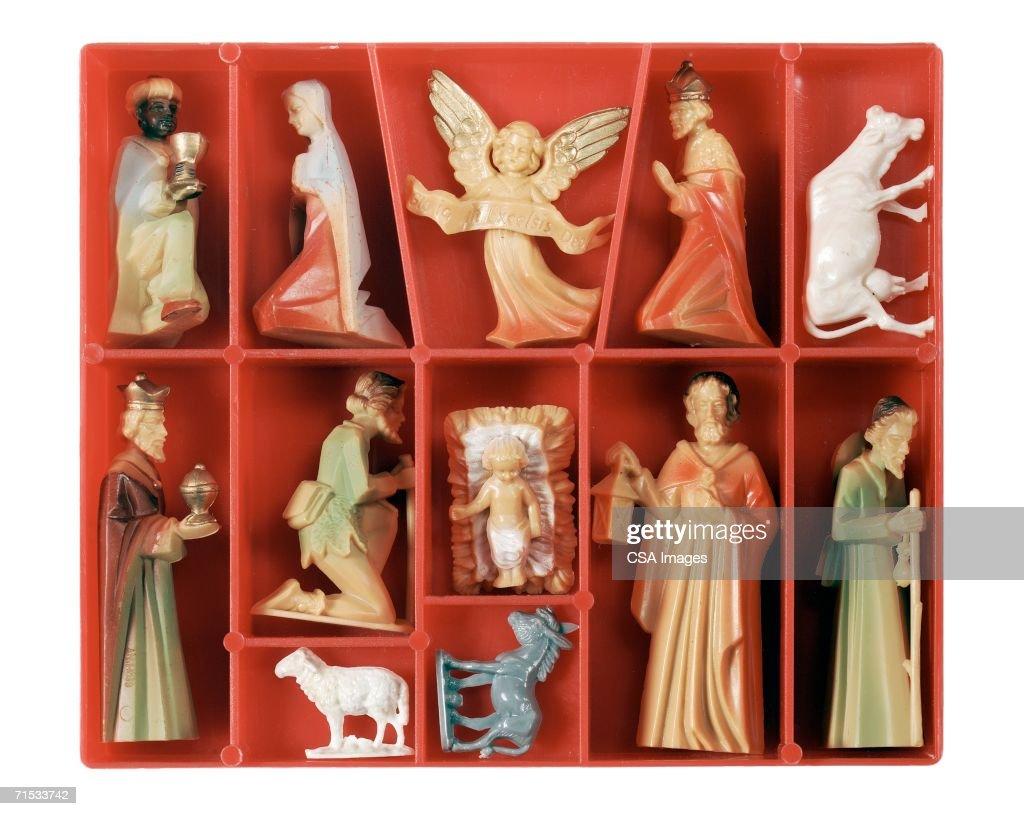 Plastic Nativity Set