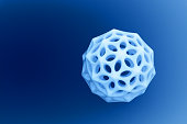 plastic object with blue background