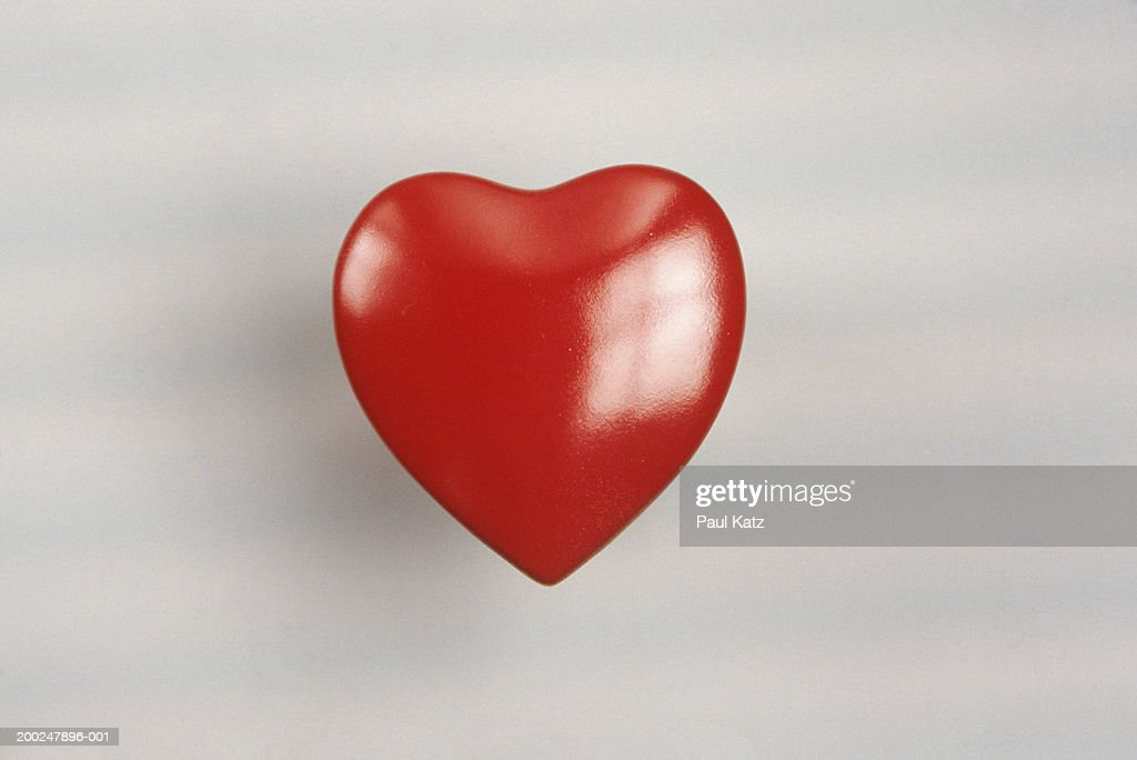 Plastic red heart, (Close-up) : Stock Photo