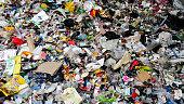 Plastic scrap in recycling center prior segration