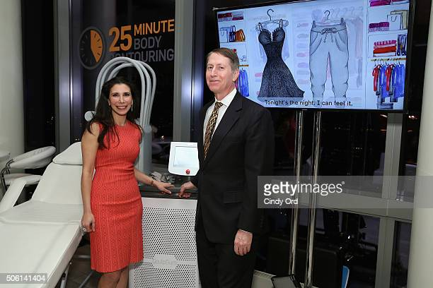 Plastic Surgeons Dr Jennifer Levine and Dr Lawrence Bass show off SculpSure the world's first lightbased laser body contouring treatment at the...