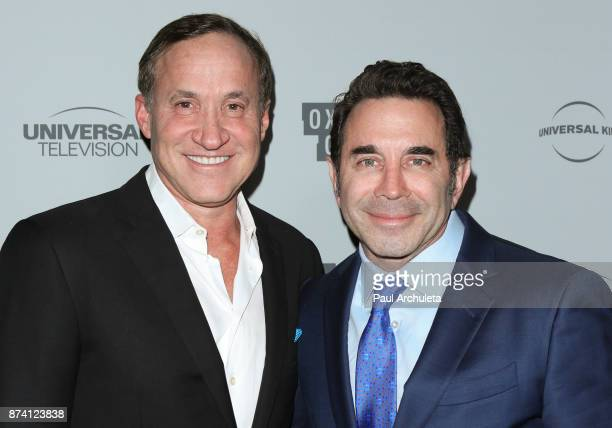 Plastic Surgeons / TV Personalities Dr Terry Dubrow and Dr Paul Nassif attend NBCUniversal's press junket at Beauty Essex on November 13 2017 in Los...