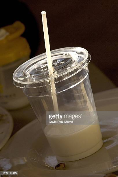 A plastic take out cup is seen at the Crepevine on January 1 2007 in Oakland California In an effort to curb pollution the city of Oakland on January...