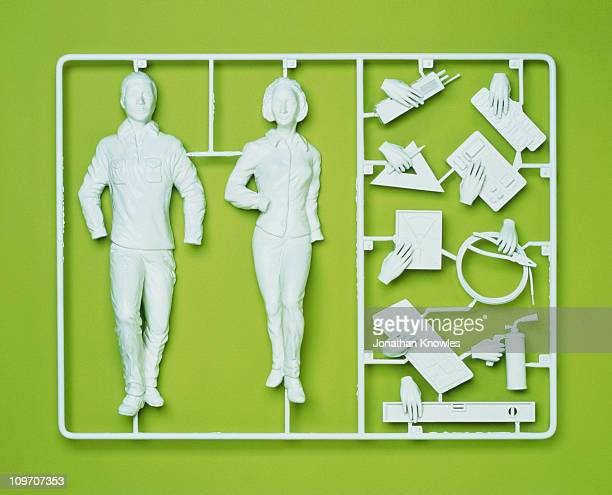 Plastic template of a model employee
