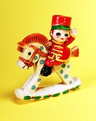 Plastic Toy Soldier on Rocking Horse