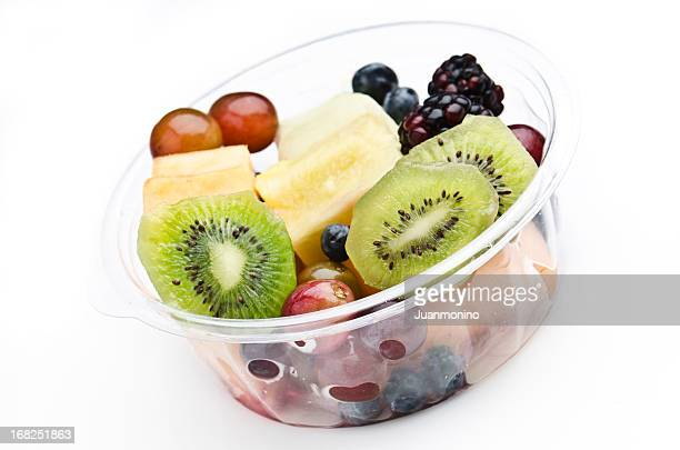 Plastic Tray of assorted fruits